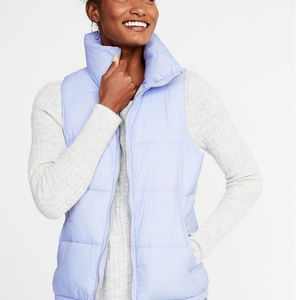Old Navy Lilac Light Puffer Vest, SZ Small NEW!